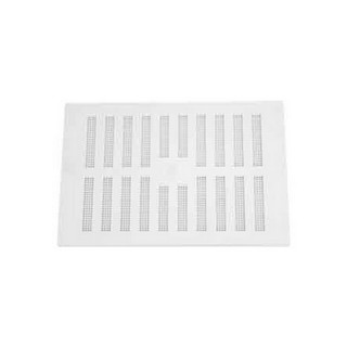 MAP HARDWARE 906-02 ADJUSTABLE HIT AND MISS VENT WITH FLYSCREEN 152X229MM WHITE