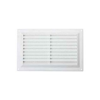 MAP HARDWARE 926-02 SURFACE MOUNTED LOUVRE VENT WITH FLYSCREEN 152X229MM WHITE