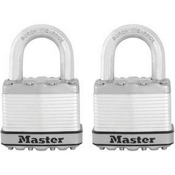MASTER LOCK 50MM EXCELL LAMINATED STEEL PADLOCK TWIN PACK