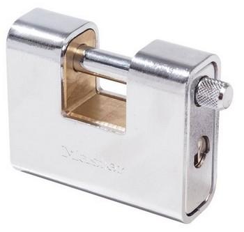 MASTER LOCK SOLID BRASS SHUTTER LOCK 80MM