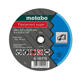 METABO 616105000 ABRASIVES CUTTING DISC 115x2.0x22.23MM