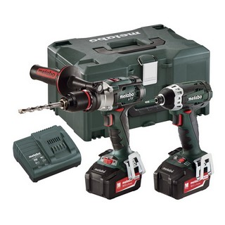 METABO COMBO SET 18V LTX COMBI AND SSD IMPACT DRIVER WITH 2X 5.2AH LI-ION BATTERIES