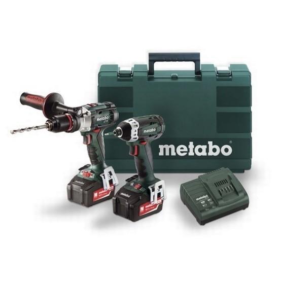 metabo combo set 2 1 6 impuls sb18 ltx combi drill ssd18 ltx 200 impact driver with 2x. Black Bedroom Furniture Sets. Home Design Ideas