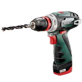 METABO POWERMAX BS BASIC 10.8V DRILL DRIVER WITH 2X2.0AH LI-ION BATTERIES
