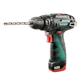 METABO POWERMAXX SB 10.8V COMBI HAMMER DRILL WITH 2X2.0AH LI-ION BATTERIES