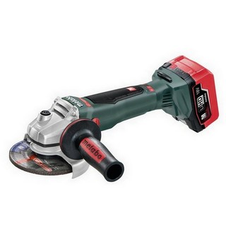 METABO WB18 LTX 18V BRUSHLESS 125MM ANGLE GRINDER WITH BRAKE AND 2X 5.5AH LiHD LI-ION BATTERIES