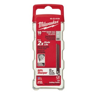MILWAUKEE 48229109 PACK OF 10 SNAP KNIFE BLADES 9MM