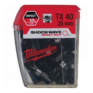 MILWAUKEE 4932352709 SHOCKWAVE TORX BITS TX40X25MM (PACK OF 25)