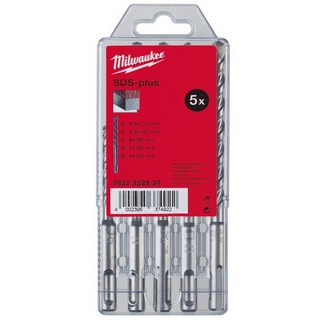MILWAUKEE 4932352834 5 PIECE SDS PLUS DRILL BIT SET