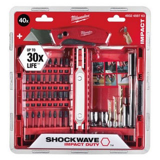 MILWAUKEE 4932459763 40 PIECE SHOCKWAVE & KNIFE SET