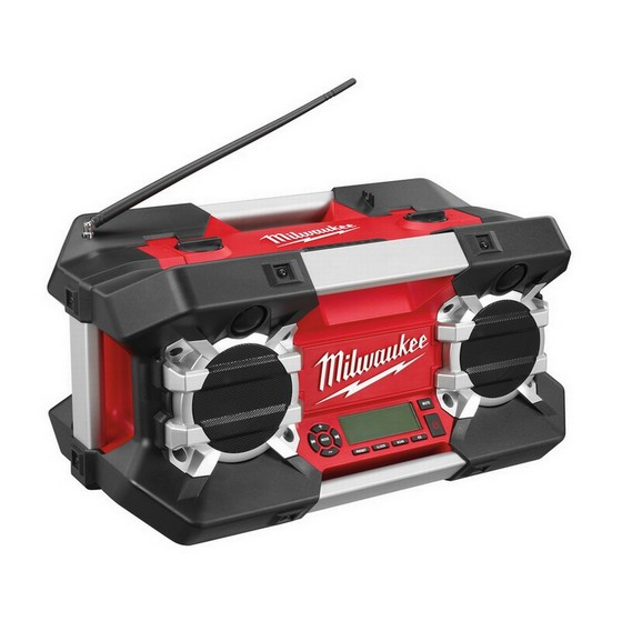 MILWAUKEE C12-28 DCR 12v-28 VOLT JOB SITE RADIO 240V WITH iPOD COMPARTMENT 240V