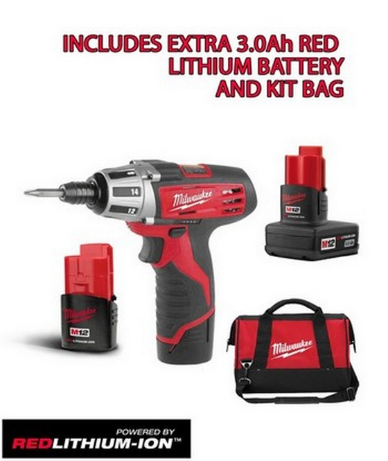 DRIVERS MILWAUKEE C12D 12V LITHIUM ION DRILL