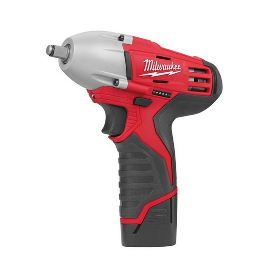 MILWAUKEE C12IW-22 12V IMPACT WRENCH 2 X 1.5ah RED Li-ion BATTERIES