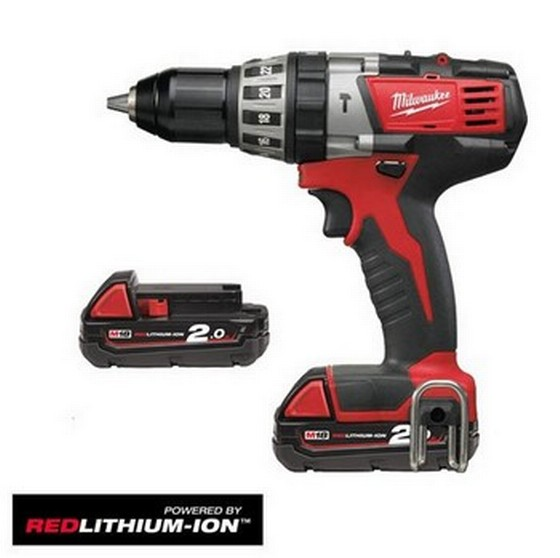 MILWAUKEE C18PD-202C 18V COMBI DRILL 2 X 2.0ah RED LITHIUM BATTERIES