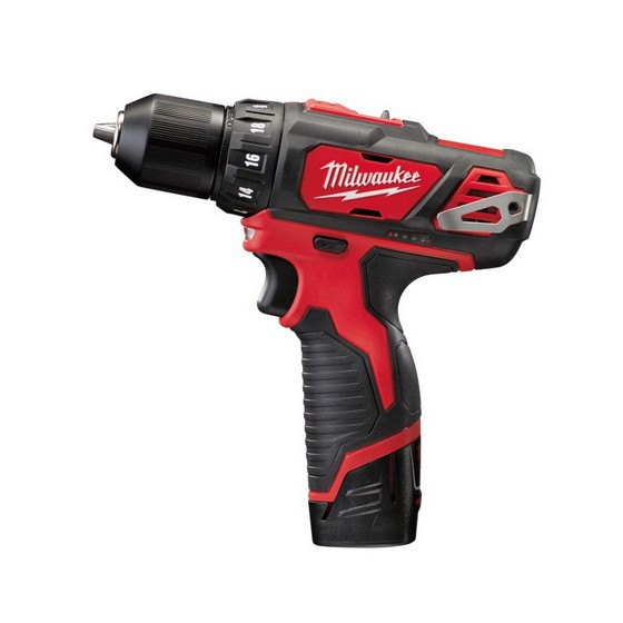 MILWAUKEE M12BDD-202C M12 12V COMPACT DRILL DRIVER WITH 2X 2.0AH LI-ION BATTERIES