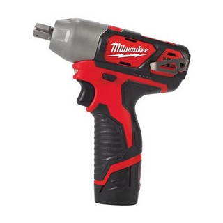 MILWAUKEE M12BIW12-202 12V IMPACT WRENCH WITH 2X 2.0AH BATTERIES
