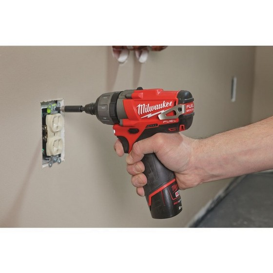 MILWAUKEE M12CD-202C FUEL 12V SCREWDRIVER WITH 2 x 2.0AH RED LI-ION BATTERIES