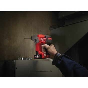MILWAUKEE M12CH-402C M12 12V FUEL BRUSHLESS COMPACT SDS PLUS HAMMER DRILL WITH 2X 4.0AH LI-ION BATTERIES