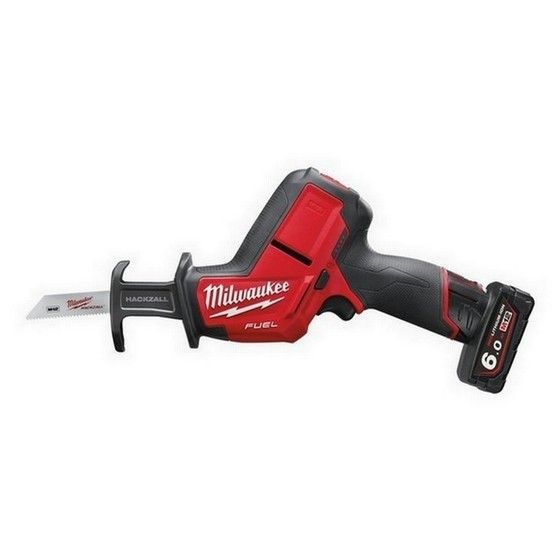 MILWAUKEE M12CHZ-602 12V BRUSHLESS HACKZALL WITH 2 X 6.0AH LI-ION BATTERIES