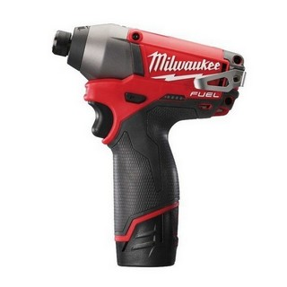 MILWAUKEE M12CID-202C FUEL 12V IMPACT DRIVER 2 X 2.0AH RED LI-ION BATTERIES