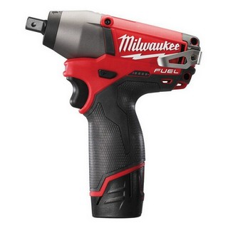 MILWAUKEE M12CIW12-202C 12V IMPACT WRENCH WITH 2X 2.0AH LI-ION BATTERIES