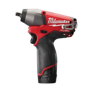 MILWAUKEE M12CIW38-202C FUEL 12V IMPACT WRENCH 2 X 2.0AH RED LI-ION BATTERIES