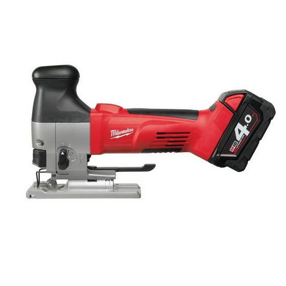 Milwaukee M18 JSB-402C 18V Body Grip Jigsaw 2 x 4.0ah Li-ion Batteries