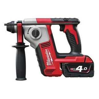 MILWAUKEE M18BH-402C M18 18V COMPACT SDS PLUS HAMMER DRILL WITH 2X 4.0AH LI-ION BATTERIES