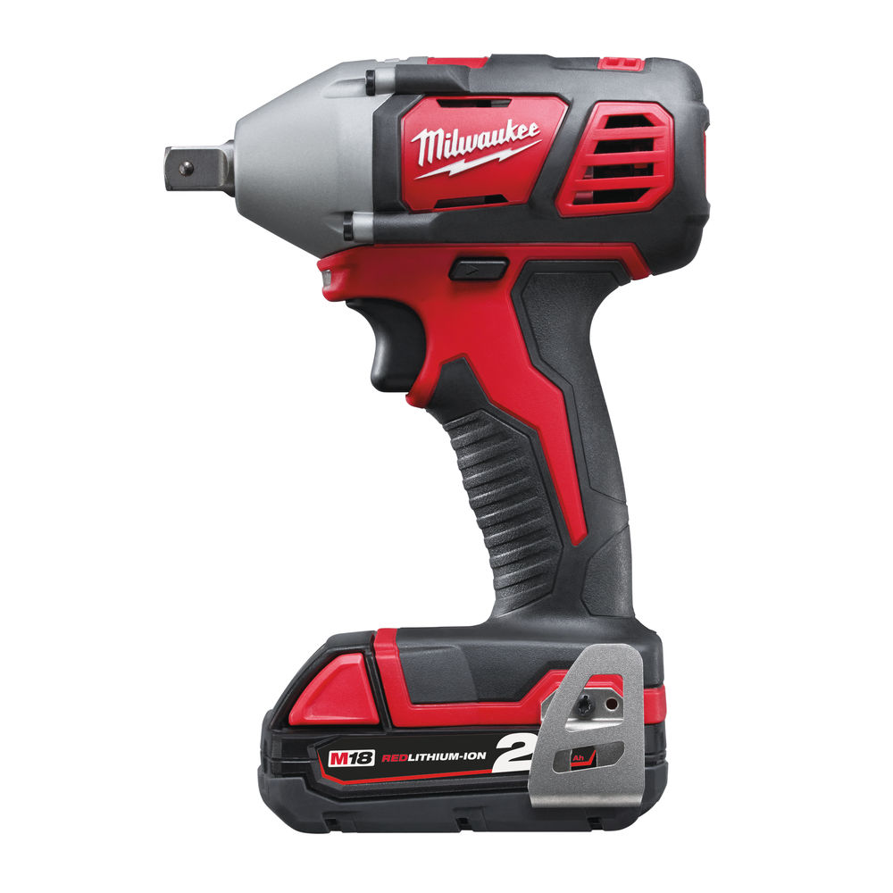 MILWAUKEE M18BIW12-202C M18 18V COMPACT IMPACT WRENCH WITH 2X 2.0AH RED LI-ION BATTERIES