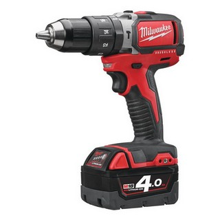 MILWAUKEE M18BLPD-402C 18V BRUSHLESS COMBI HAMMER DRILL WITH 2X 4.0AH LI-ION BATTERIES