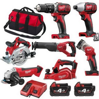 MILWAUKEE M18BPP7A-402B 18V BRUSHED 7 PIECE KIT