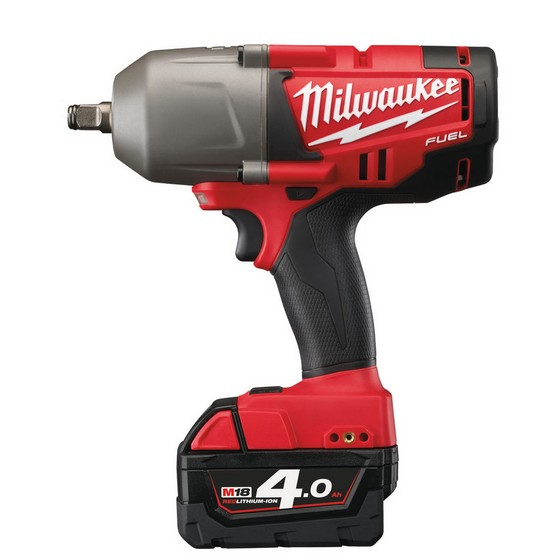 Milwaukee M18CHIWF12-402C 18V M18 FUEL Brushless Impact Wrench With 2x4.0ah Red Li-ion Batteries