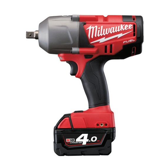 Milwaukee M18CHIWP12-402C M18 18V FUEL Brushless  Impact Wrench 1/2 Inch With 2x4.0ah Red Li-ion Batteries