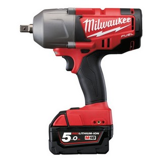 MILWAUKEE M18CHIWP12-502C 18V HEAVY DUTY BRUSHLESS 1/2IN IMPACT WRENCH WITH 2X 5.0AH LI-ION BATTERIES