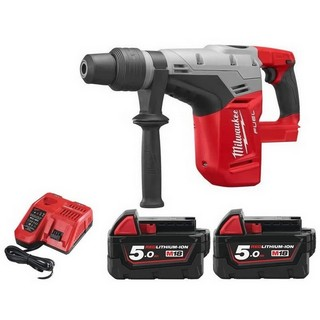 MILWAUKEE M18CHM-502BAG 18V BRUSHLESS 5KG SDS MAX COMBI HAMMER WITH 2X 5.0AH LI-ION BATTERIES (SUPPLIED IN CARRY BAG)