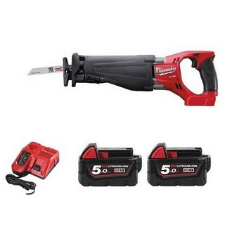MILWAUKEE M18CSX-502BAG 18V BRUSHLESS SAWZALL 2 X 5.0AH LI-ION BATTERIES (SUPPLIED IN CARRY BAG)