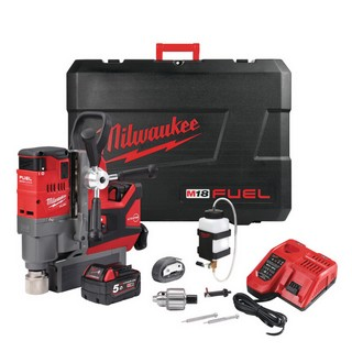 MILWAUKEE M18FMDP-502 18V FUEL MAGNETIC DRILLING PRESS KIT WITH PERMANENT MAGNET