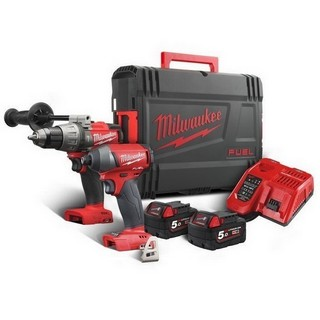 MILWAUKEE M18FPP2A-502X 18V BRUSHLESS FUEL 2 TWIN PACK 2X 5.0AH LI-ION BATTERIES