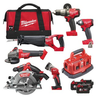 MILWAUKEE M18FPP6B-503B 18V BRUSHLESS FUEL 6 PIECE KIT WITH 3X 5.0AH LI-ION BATTERIES