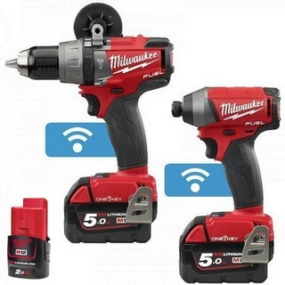 MILWAUKEE M18ONEPP2A-523X M18 ONE KEY TWIN PACK WITH 2X 5.0AH LI-ION BATTERIES + 12V 2.0AH BATTERY