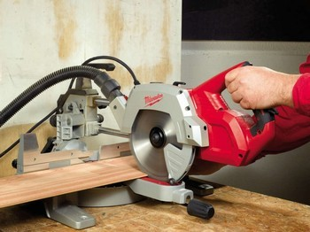MILWAUKEE MS216SB 216MM SLIDING COMPOUND MITRE SAW 110V