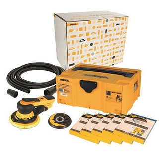 MIRKA DEROS SANDER DECO KIT 110V WITH 50 SANDING DISCS SUPPLIED IN SYSTAINER CASE