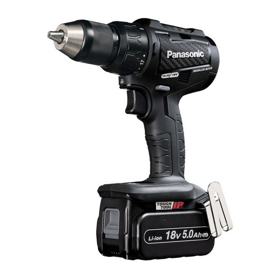 PANASONIC EY79A2LJ2G31 18V BRUSHLESS COMBI DRILL WITH 2X 5.0AH LI-ION BATTERIES