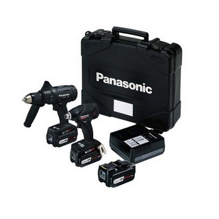 PANASONIC EYC208LS3T31 18V SPECIAL EDITION COMBI DRILL & IMPACT DRIVER WITH 3X 4.2AH BATTERIES