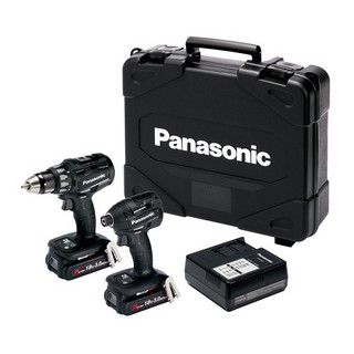 PANASONIC EYC215PN2G31 18V BL DRILL DRIVER & IMPACT DRIVER KIT WITH 2X 3.0AH LI-ION BATTERIES