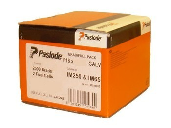 PASLODE 921596 BOX OF 2000 BRAD NAILS 63MM STAINLESS STEEL