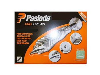 PASLODE QUATTRO WOODSCREWS ZINC PLATED 5.0X100mm BOX OF 100