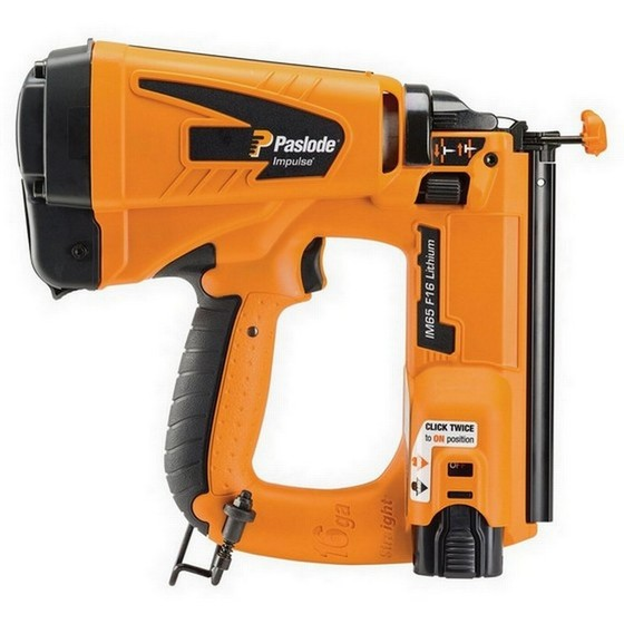 Image of PASLODE IM65 LITHIUM F16 2ND FIX STRAIGHT BRAD NAILER 1 X LIION BATTERY