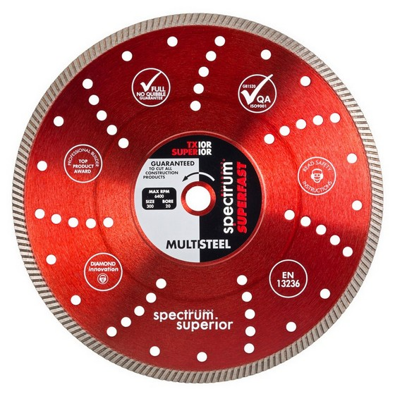SPECTRUM TX10R 125MM DIAMOND DISC