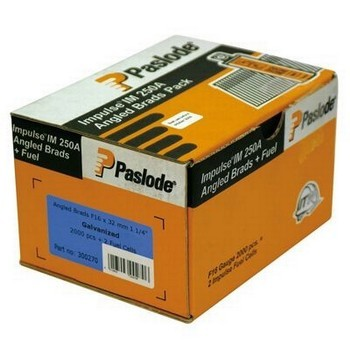 Image of PASLODE 300270 ANGLE BRADFUEL 32MM F16 ELECTRO GALV 2000 PER BOX